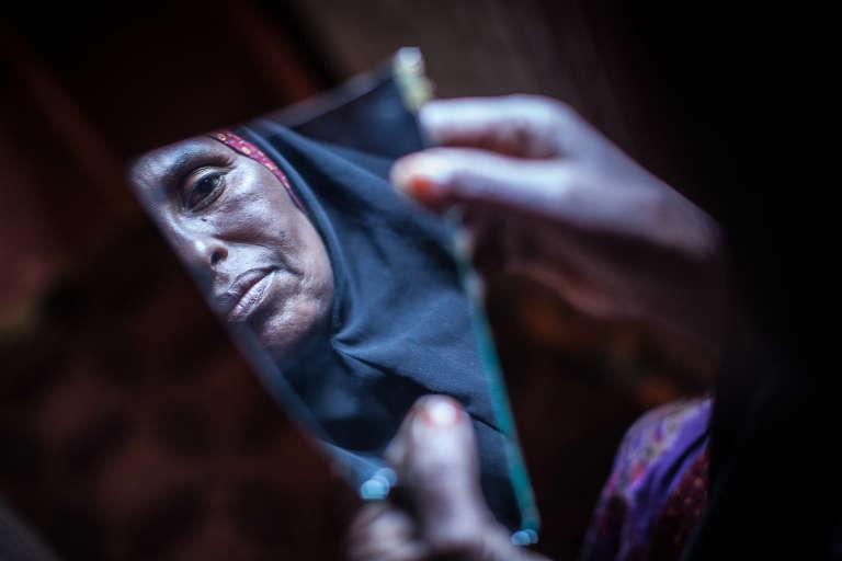 Amran Mahamood, exciseuse depuis une quinzaine d'années à Hargeisa, au Somaliland.