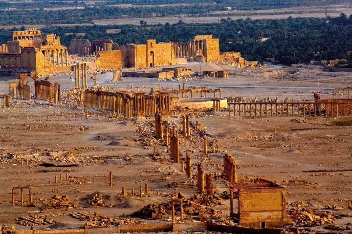 Le site archéologique de Palmyre, le 27 mars 2016.