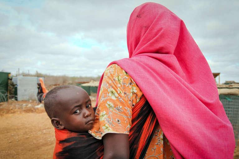 Dans un camp de réfugiés à Baidoa, en Somalie, en 2013.