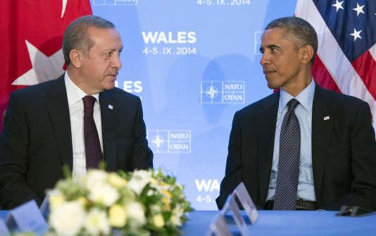 Recep Tayyip Erdogan et Barack Obama, à Newport, Galles du Sud, le 5 septembre 2014.
