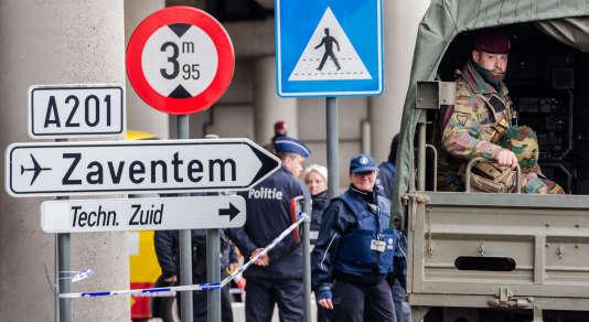 Le 29 mars, près de l'aéroport de Zaventem, à Bruxelles.