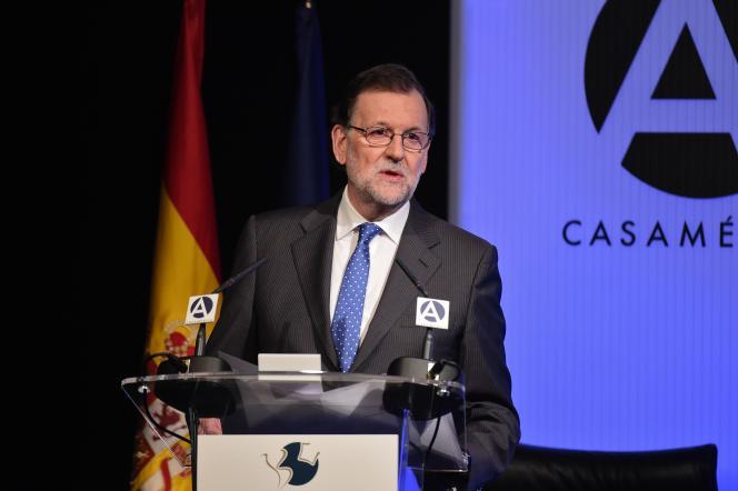 Le premier ministre espagnol Mariano Rajoy le 29 mars à Madrid.