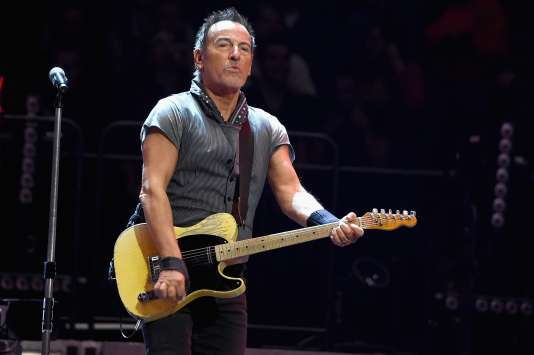Bruce Springsteen en concert au Madison Square Garden à New York, le 28 mars 2016.