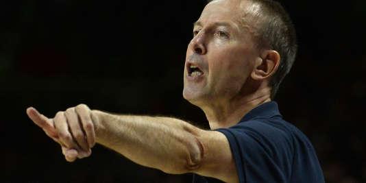 Le coach de Strasbourg, Vincent Collet.