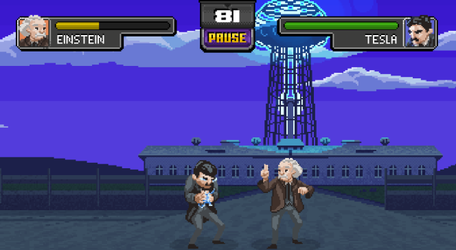 Le jeu «Science Kombat » permet d'incarner des scientifiques.