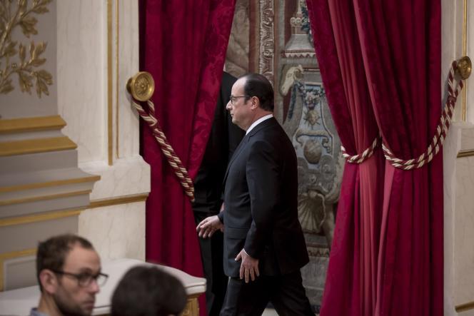 François Hollande le 30 mars à l'Elysée.