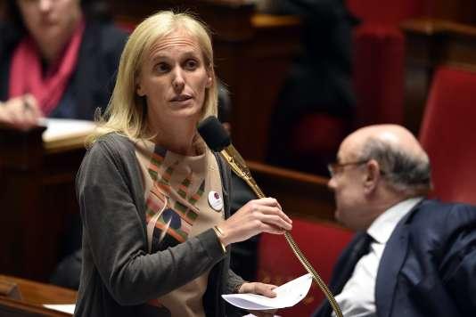La secrétaire d'Etat chargée des personnes handicapées et de la lutte contre l'exclusion, Ségolène Neuville, à l'Assemblée nationale, le 30 mars.