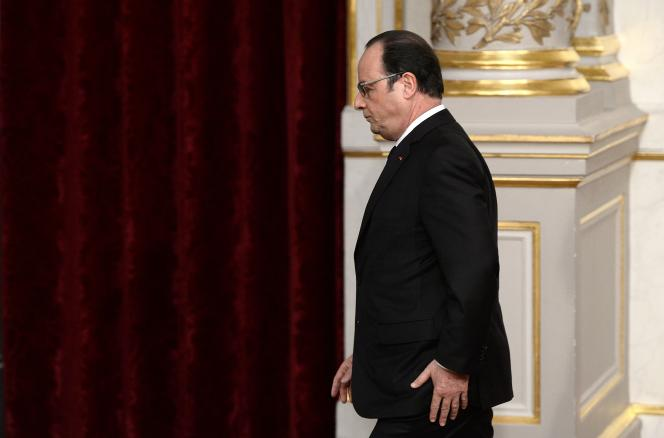 François Hollande, le 30 mars, à l'Elysée.