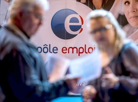 Dans une agence Pôle emploi à Gravelines, dans le nord de la France.