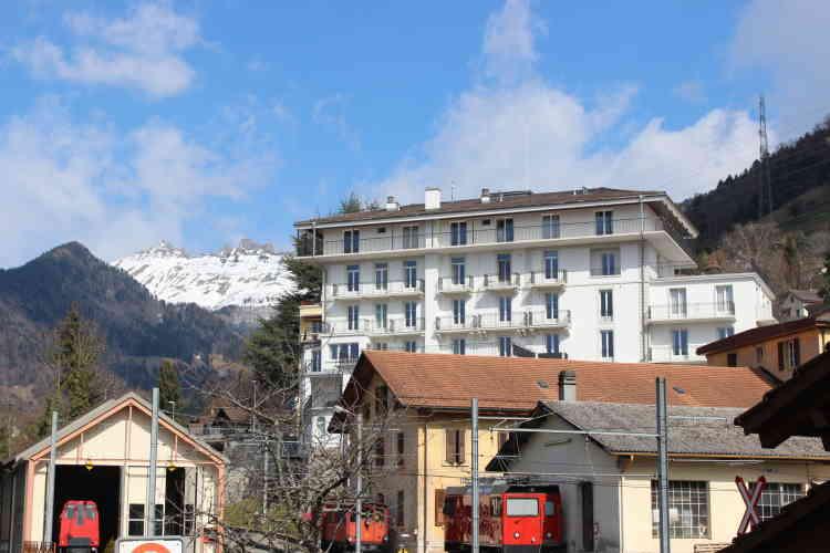 Glion. L'Hôtel des Alpes, à la fois restaurant-école et résidence étudiante.