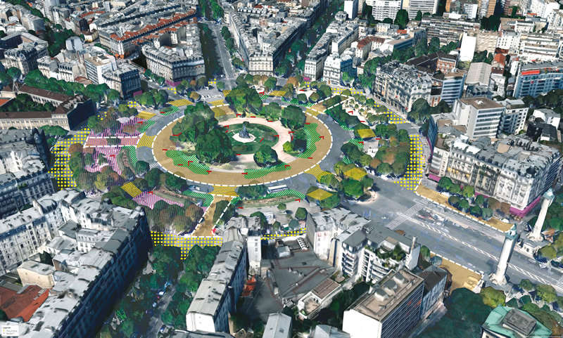 La place de la Nation verra son jardin central agrandi.