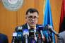 Faïez Sarraj, le chef du gouvernement dit d'« union nationale » enfanté par l'accord de Skhirat, le 30 mars, lors de son installation effective à Tripoli.