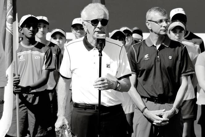 Raymond Moore, l'ex-directeur du tournoi Indian Wells, aux Etats-Unis, le 20 mars 2016.