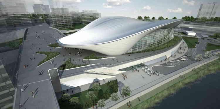 Construit pour les Jeux olympiques d'été de 2012 à Londres et inauguré en 2011, l'Aquatics Centre est une piscine située dans le Parc olympique de Stratford, dans la banlieue est de la ville. Son imposant toit courbé évoquant la courbe d'une vague, a été l'un des plus grands défis d'ingénierie des grands travaux du site. Sa capacité d'accueil de 17 500 places, lors des jeux, a par la suite été réduite à 2 500.