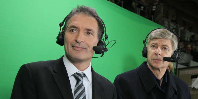 Christian Jeanpierre et Arsene Wenger en 2008 au Stade de France.