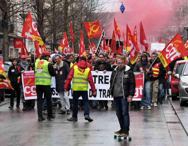 La manifestation à Valenciennes.