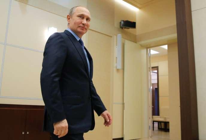 Le président russe Vladimir Poutine, le 31 mars.