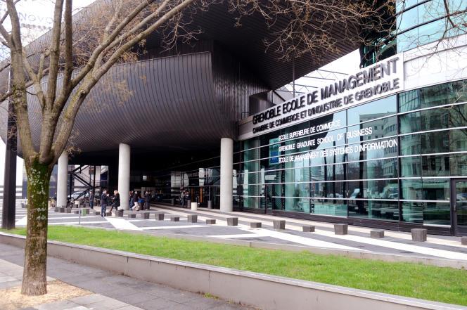 Vue de l'Ecole de Management de Grenoble, en mars 2010.