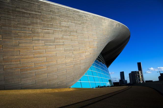 La piscine olympique de Londres.
