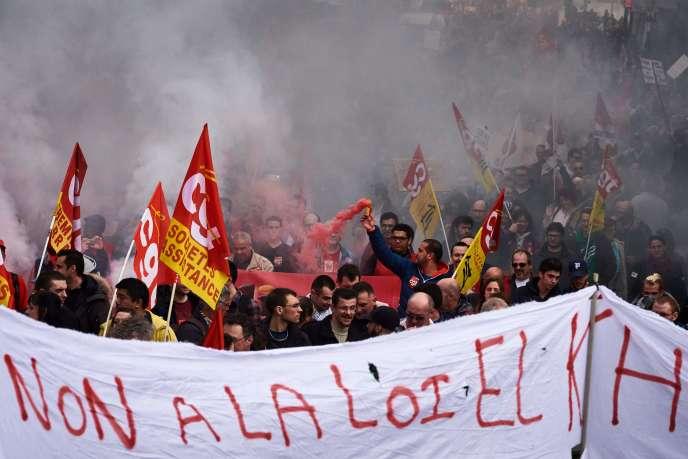 Manifestation contre la loi travail, le 31 mars 2016 à Lyon.