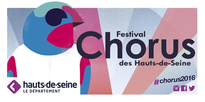 L'affiche de l'édition 2016 du festival Chorus des Hauts-de-Seine.