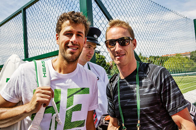 Mark De Jong (à droite) est le coach de Robin Haase. Ici à Wimbledon en 29 juin 2015.