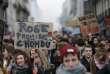 Le cortège de manifestants à Nantes, jeudi 31 mars.