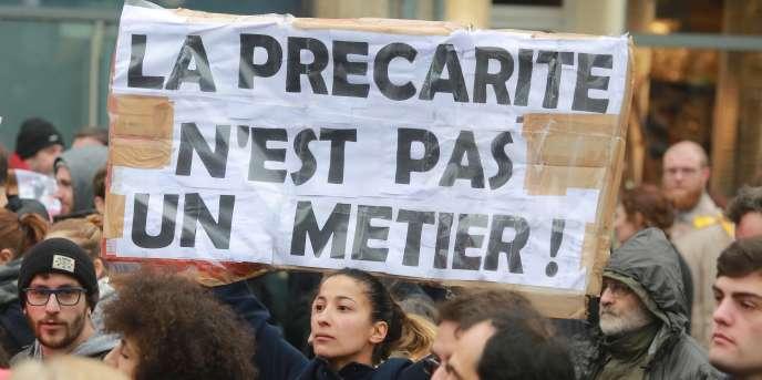 Lors des manifestations contre la loi travail, le 31 mars 2016 à Bordeaux.