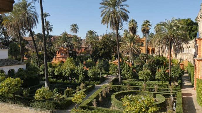 Les jardins du palais fortifié de l'Alcazar de Séville (Espagne). Lundi 4avril à 17h45 sur Arte.