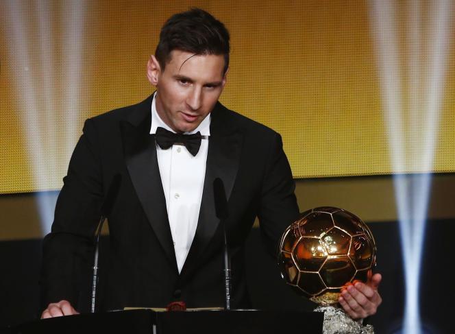 Lionel Messi lors de la cérémonie des Ballons d'or, le 11 janvier.