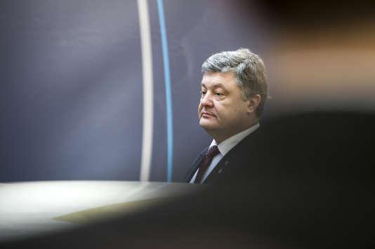 Petro Porochenko, le président ukrainien au conseil européen à Bruxelles, le 17 mars.