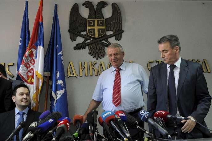 Vojislav Seselj, lors de l'énoncé du verdict du TPIY, jeudi 31 mars 2016.