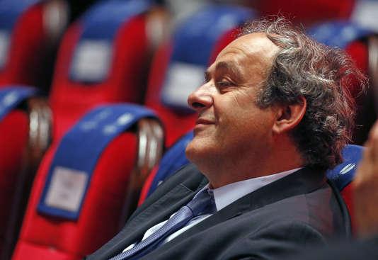 Michel Platini à Monaco le 28 août 2015.