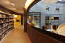 Le petit volcan de l'Espace Oscar-Niemeyer, au Havre, a été transformé en bibliothèque.