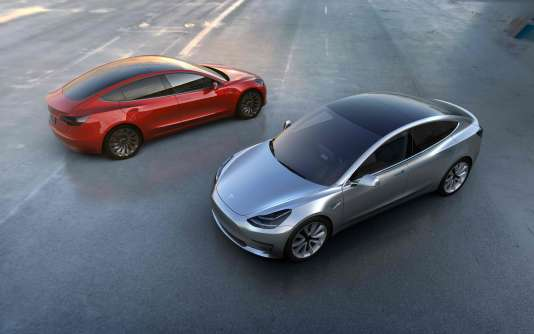 La Model 3 de Tesla.