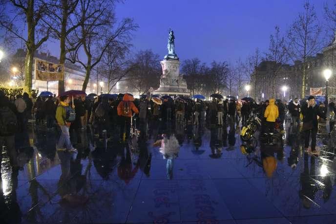 Place de la République, à Paris, samedi 2 avril.