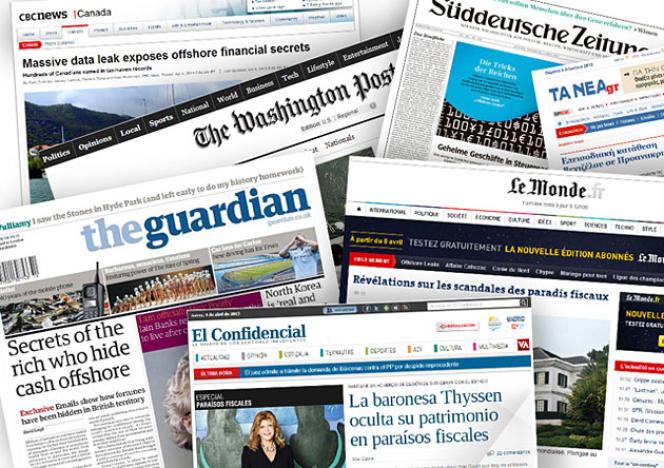 Trente-six médias étaient partenaires en 2013 de l'enquête internationale sur les paradis fiscaux