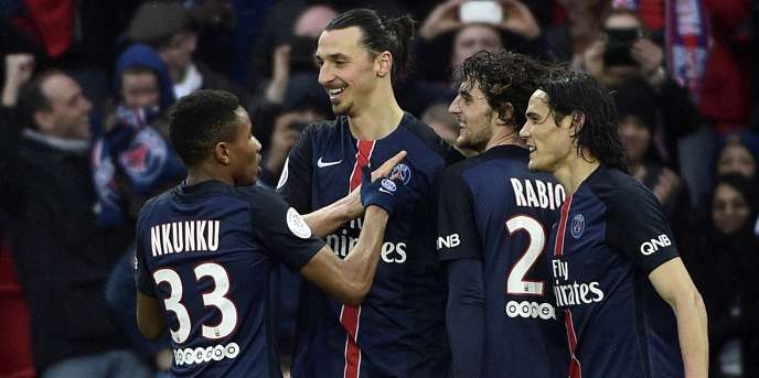 Les joueurs du PSG, le 2 avril.