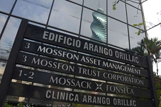 La devanture de la firme Mossack Fonseca, au cœur d'un scandale sur les paradis fiscaux, le 3avril2016.