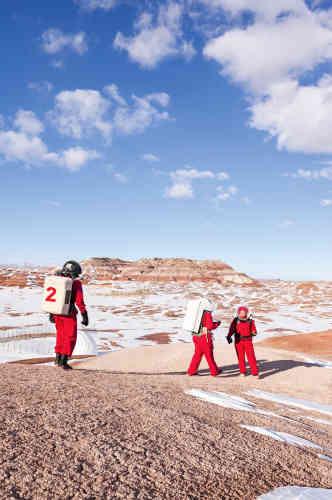 Les sorties en scaphandre se font par – 10 °C, mais sur Mars, il fait encore plus froid : de – 50 °C à – 150 °C.