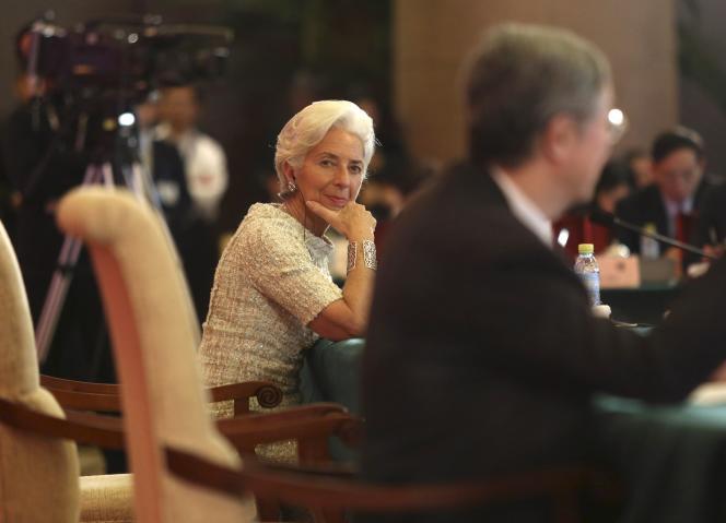 Christine Lagarde, à Pékin, en Chine, le 20 mars.
