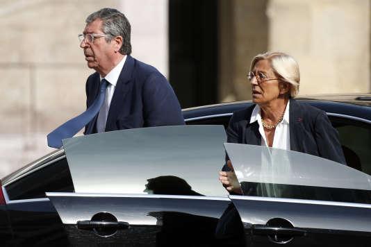 Patrick et Isabelle Balkany à Paris, le 3 juillet 2015.