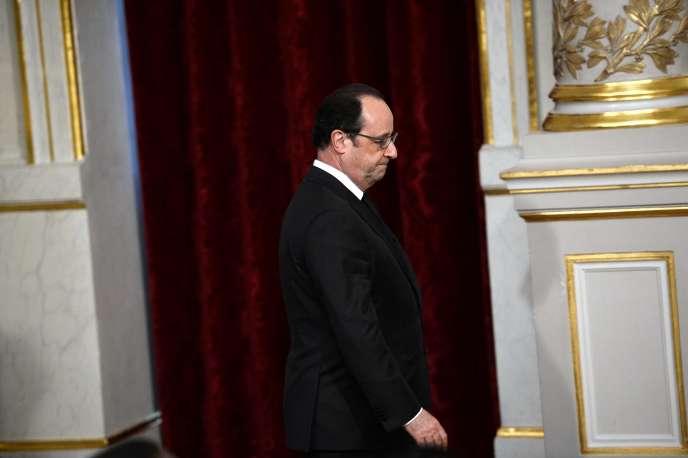François Hollande, le 4 avril, à l'Elysée.