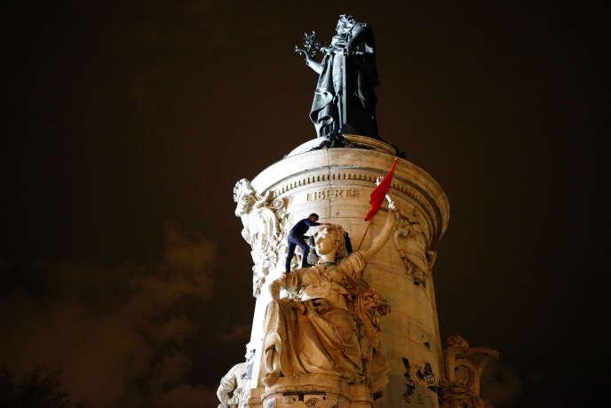 Le 4 avril, place de la République à Paris, dans le cadre du rassemblement Nuit Debout.