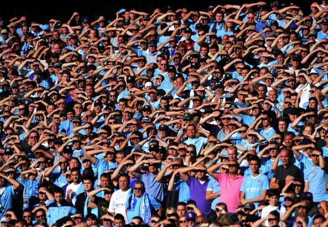 Les supporteurs éblouis de Manchester City en 2013.