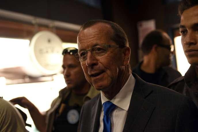 Martin Kobler, envoyé spécial des Nations unies pour la Libye, à Tripoli le 5 avril.