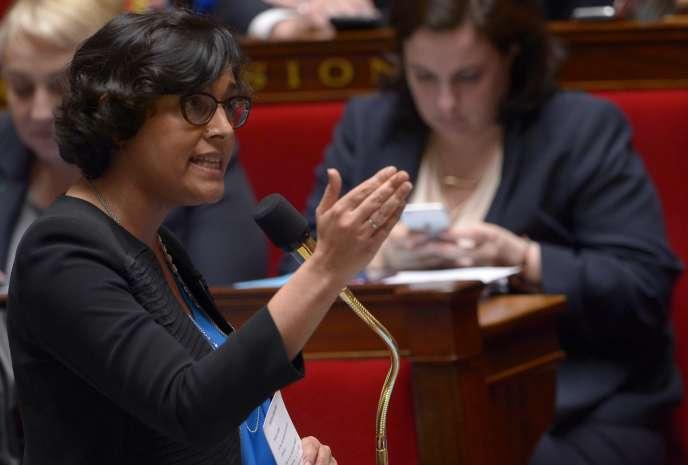 Myriam El Khomri à l'Assemblée nationale, le 5 avril 2016.