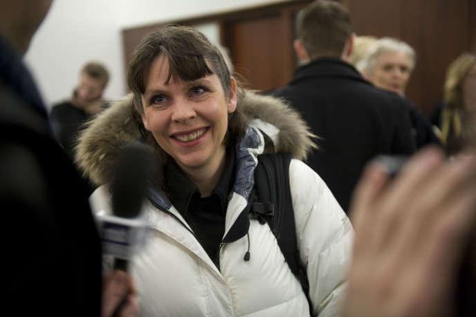 Birgitta Jonsdottir, à la tête du Parti pirate islandais. Ici, en 2011.