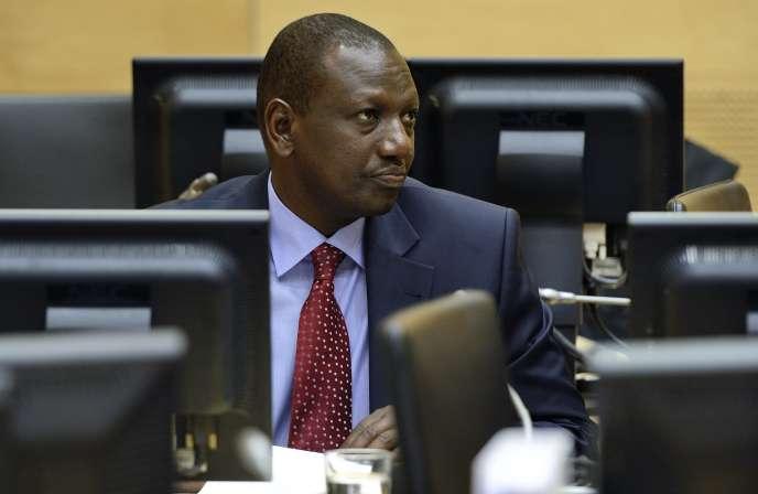 Le vice-président kényan William Ruto devant la Cour pénale internationale à La haye, le 14 mai 2013.