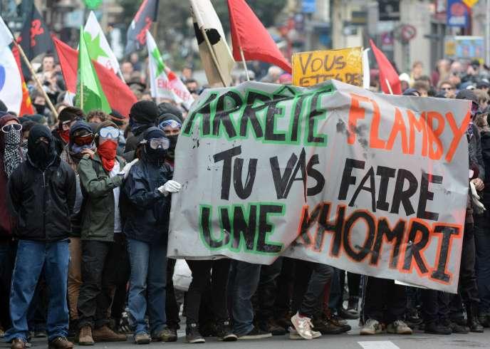 Manifestations contre la loi travail, le 31 mars, à Rennes.